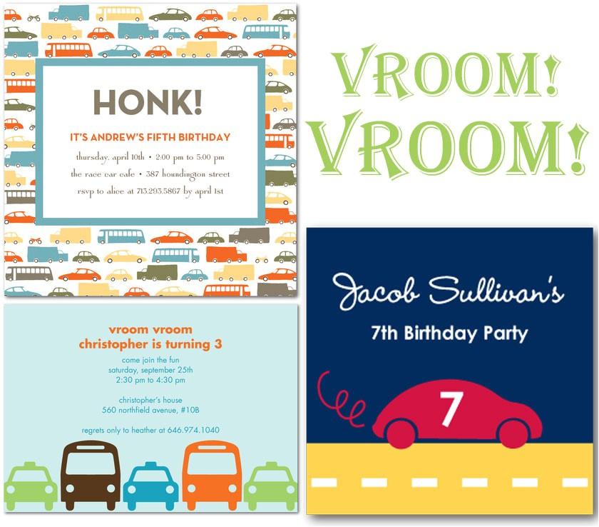 car birthday party theme