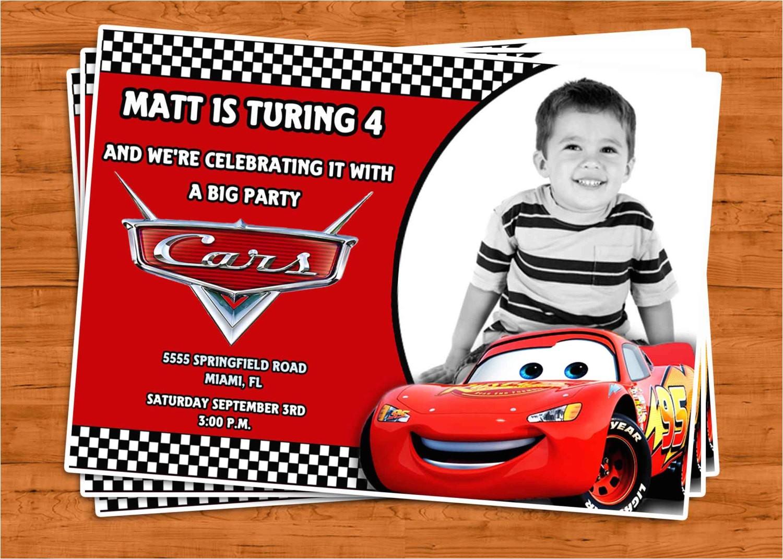 cars birthday invitation u print