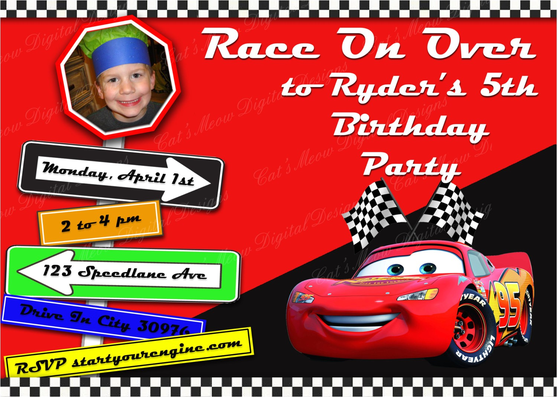 classic cars birthday invitations