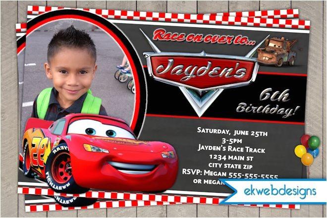disney cars birthday invitation lightening mcqueen birthday invite