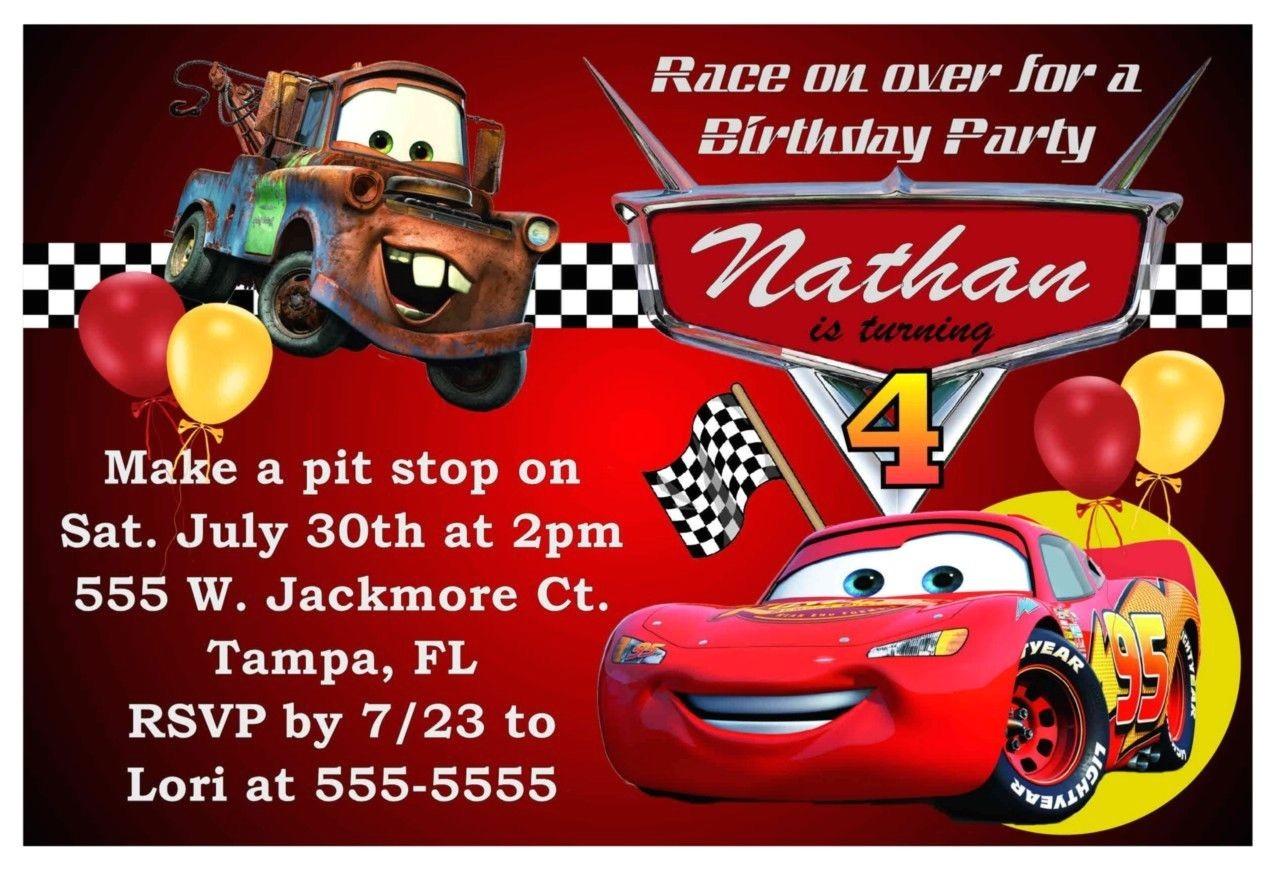 disney cars birthday party invitations 200621516619