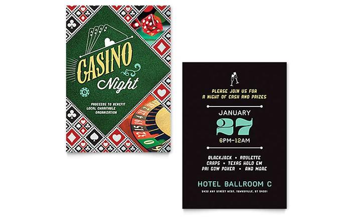 Casino Night Invitation Templates BE D