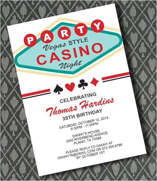 Casino Party Invitations Templates Free Diy Vegas Casino Night Invitation Template From