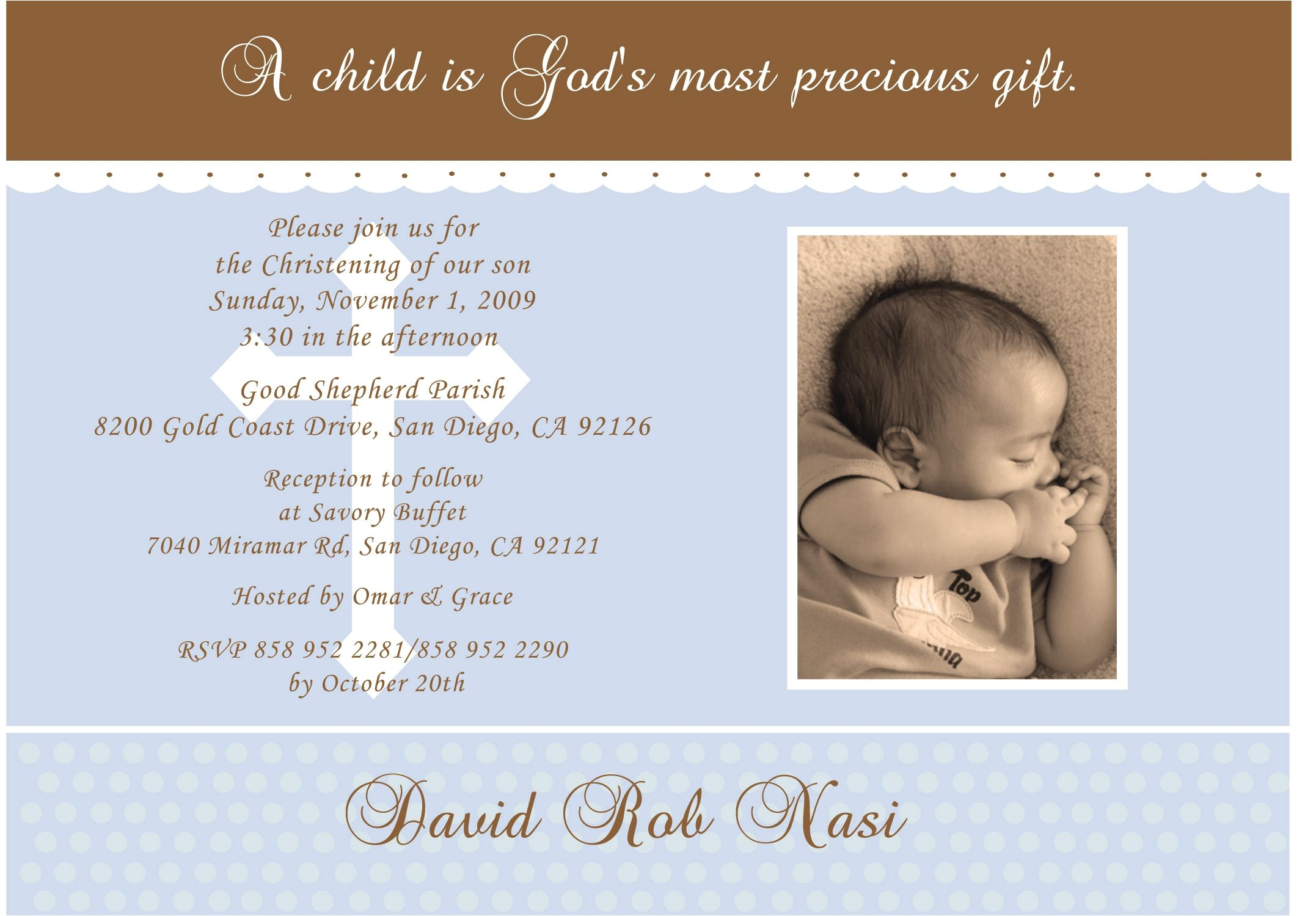 catholic baptism invitations