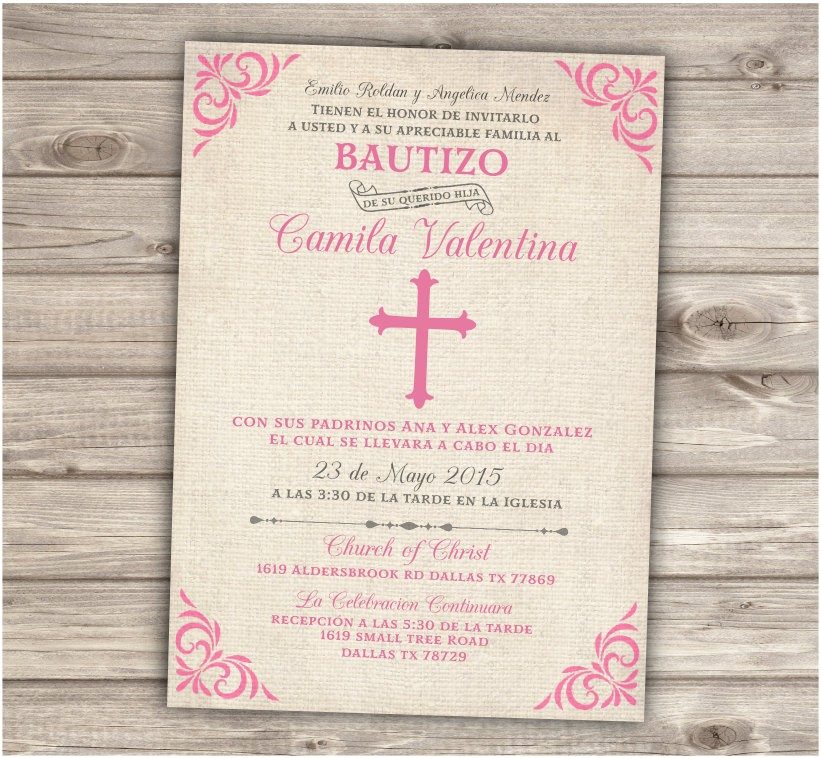 spanish printable baptism christening