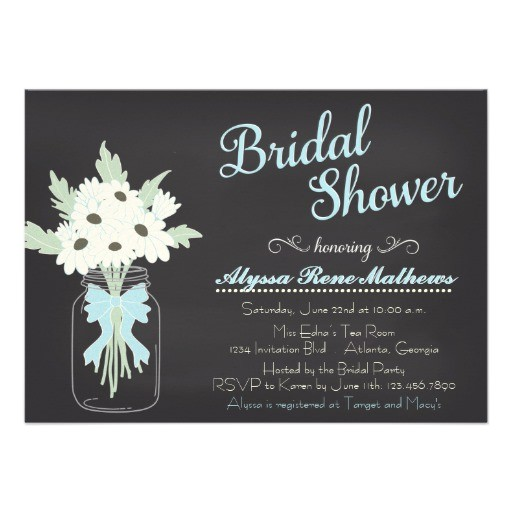 bridal shower invitations chalkboard