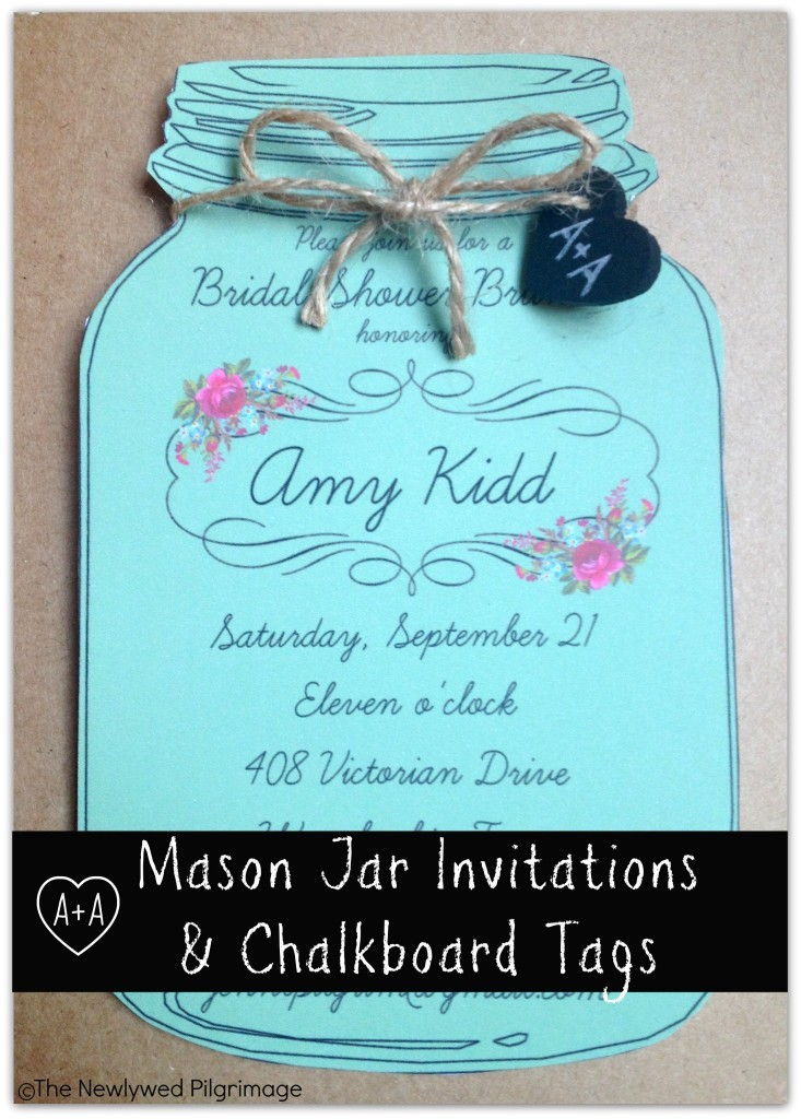 mason jar invitations chalkboard tags
