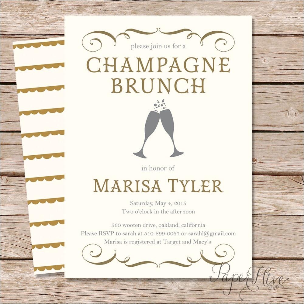 champagne brunch bridal shower