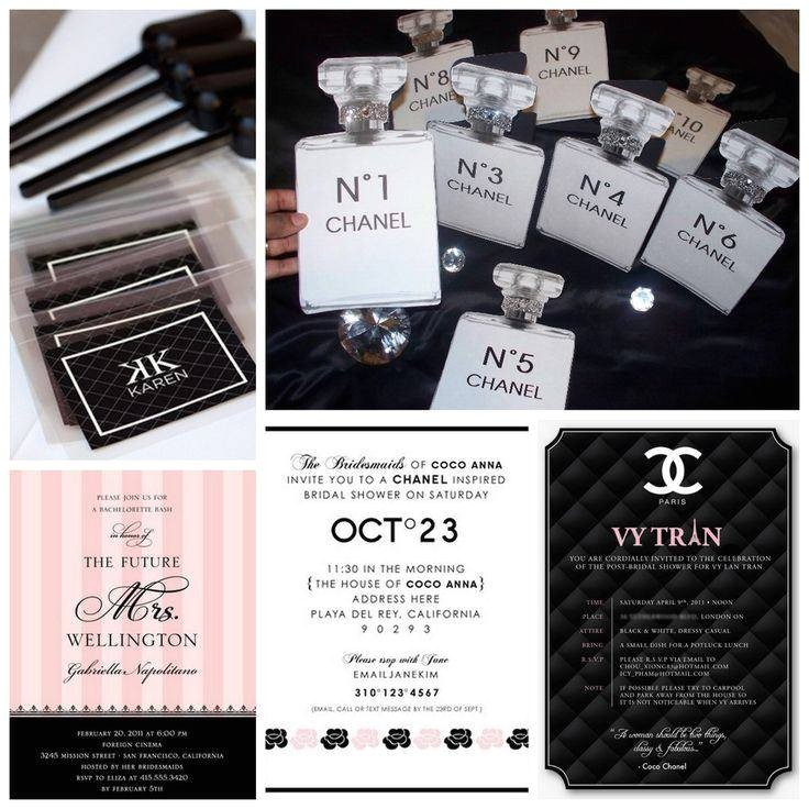 chanel themed party invitations