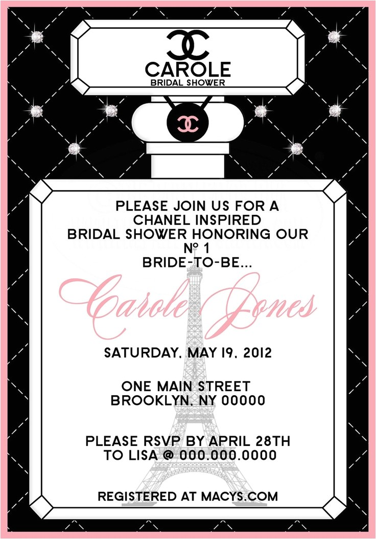 chanel bridal shower