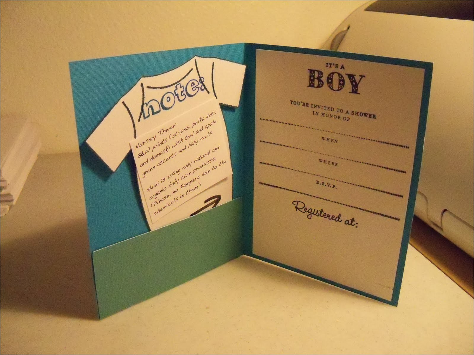 cheap baby shower invitation for boy