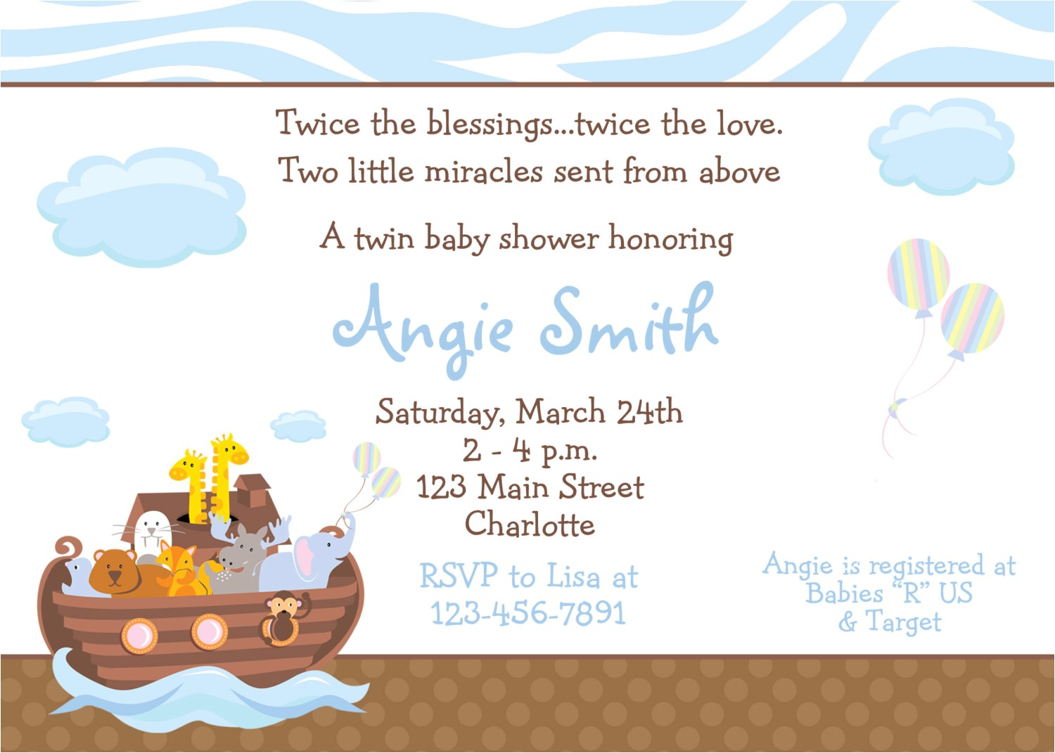 baby shower invitations for twins cheap