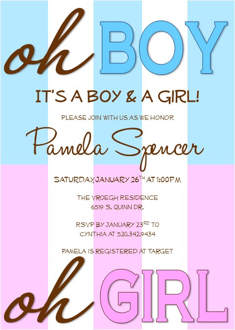 printable twin baby shower invitations