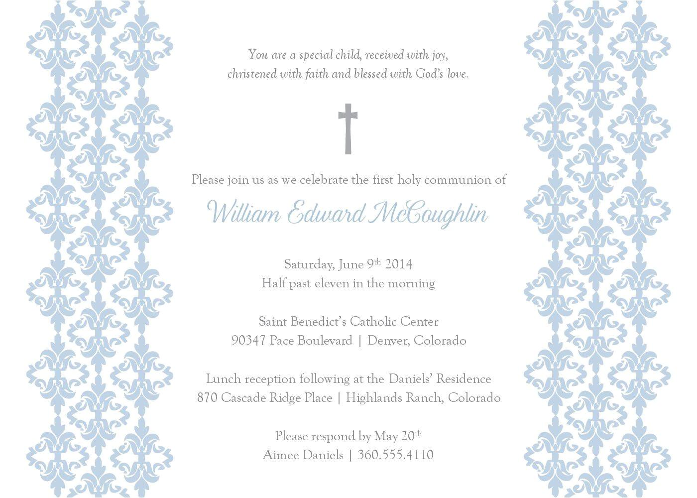 baptismal invitation template