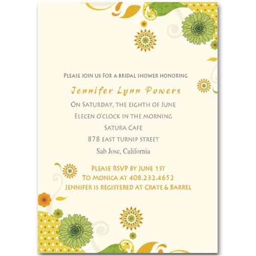 discount yellow sunflower online bridal shower invitations ewbs009