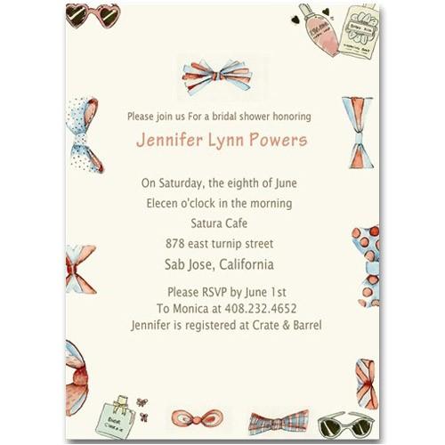 girly chic printable cheap shower bridal invitations online ewbs005