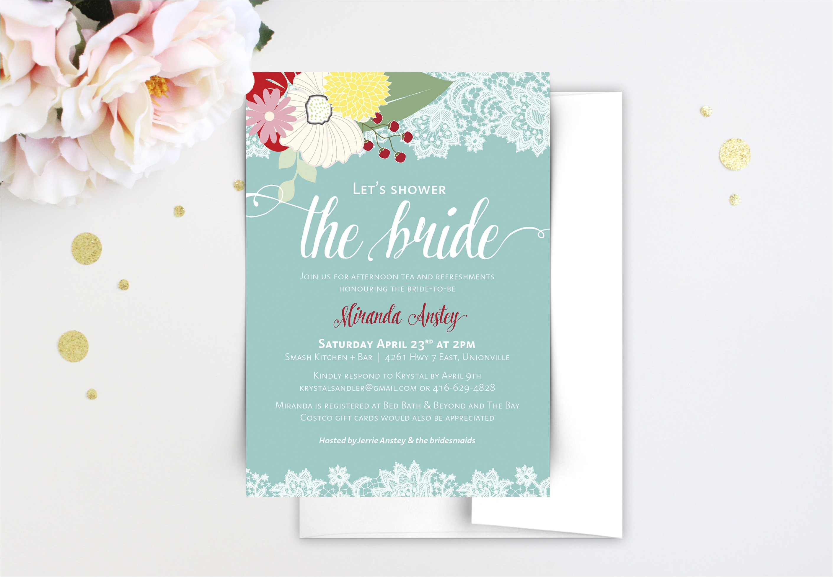 how to get cheap bridal shower invitations