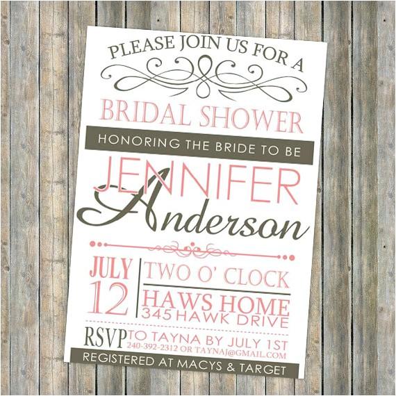 pink vintage bridal shower invitations cheap ewbs028