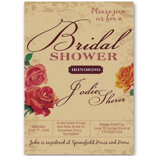 simple printable floral bridal shower invitations cheap ewbs055