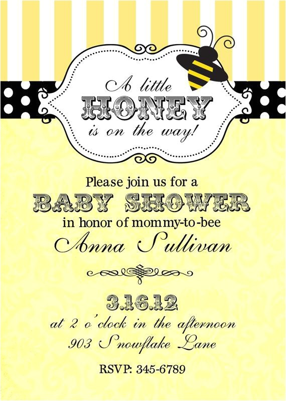 collection of bumble bee baby shower invitations at this