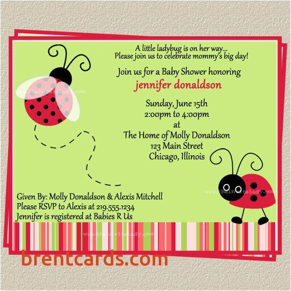 ladybug baby shower invitations cheap ladybug baby shower invitations add 5
