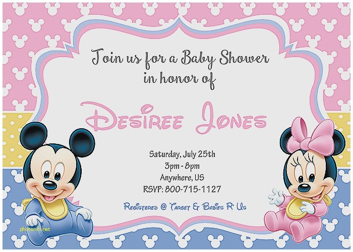 cheap minnie mouse baby shower invitations