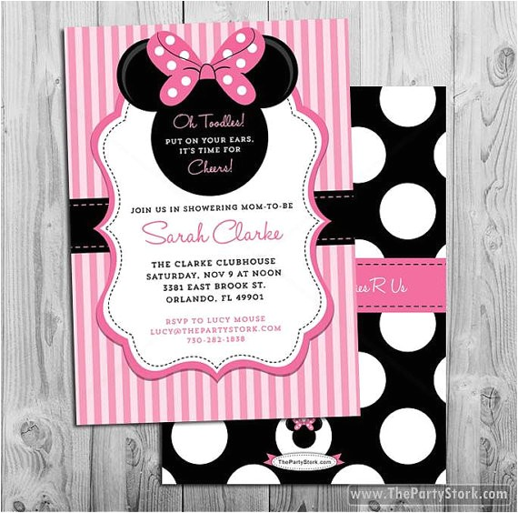 nice decoration baby minnie mouse shower invitations prissy desi