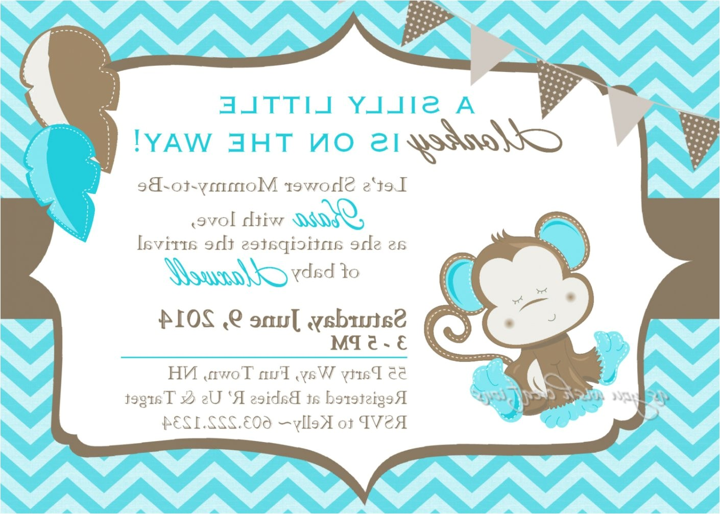 cheap baby shower invitations for boys 1 monkey baby shower invitations for boy ctsfashion baby shower invitations