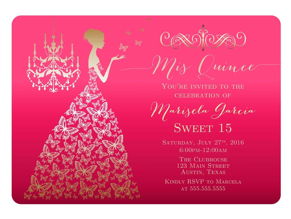 quinceanera invitation template free