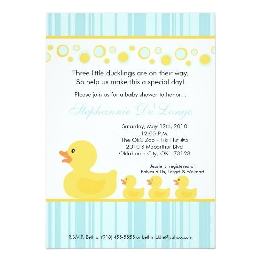 rubber duck theme baby shower supplies
