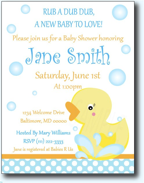 baby shower duck invitations