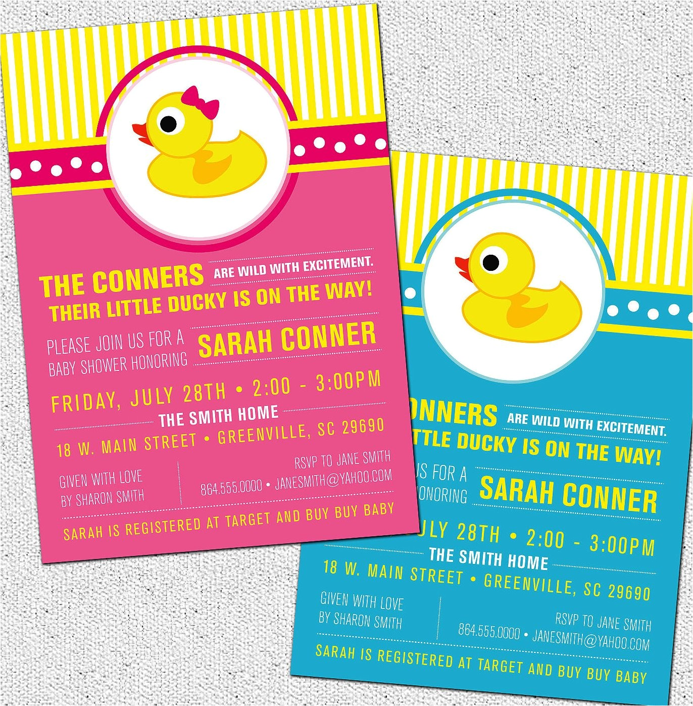 duck baby shower invitations cartoon images