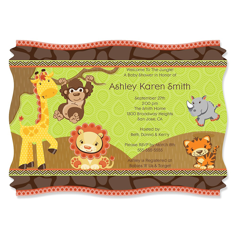 funfari baby shower invitations