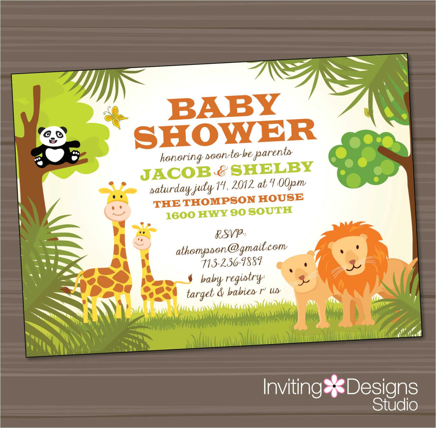 jungle baby shower invitations for twins