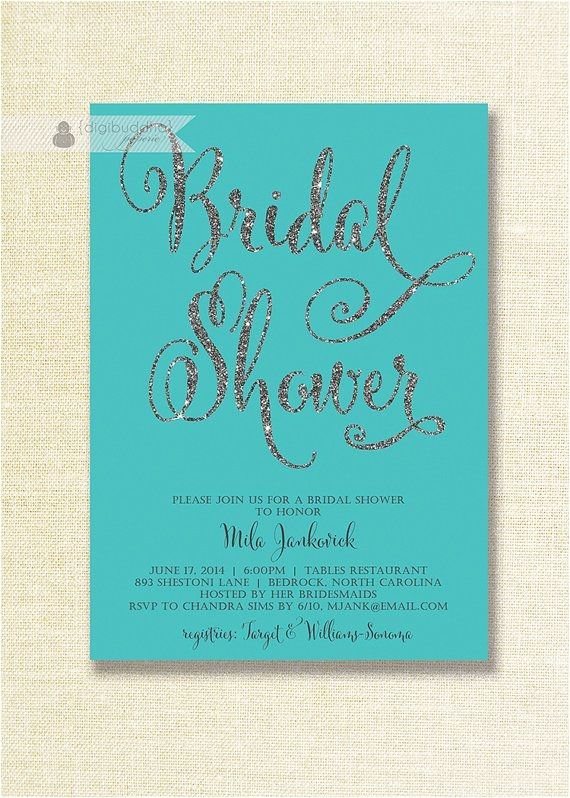 teal bridal showers