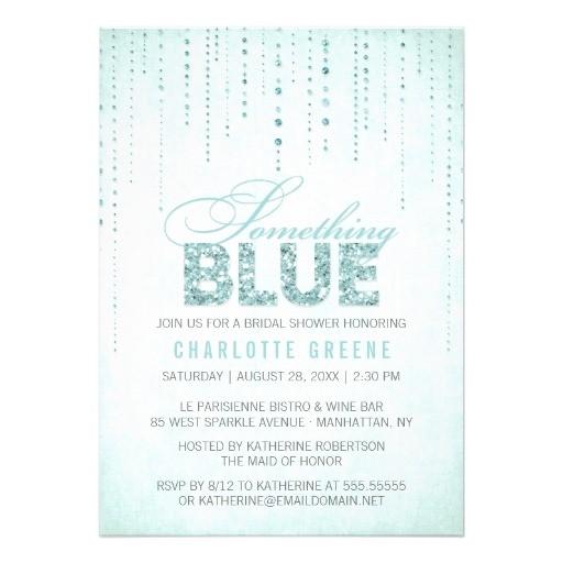 bridal shower invitations something blue