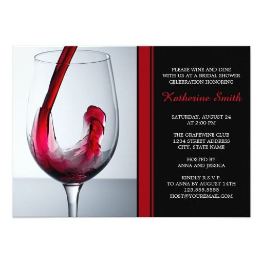 red wine glasses wedding invitations