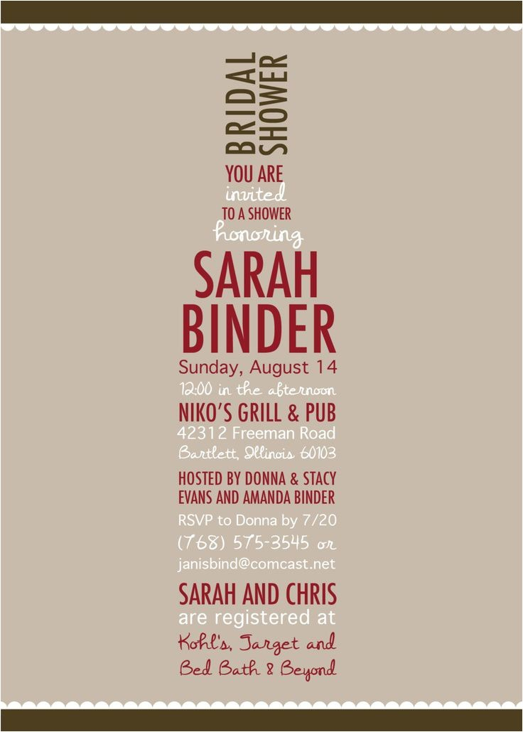 bridal shower invitations wording