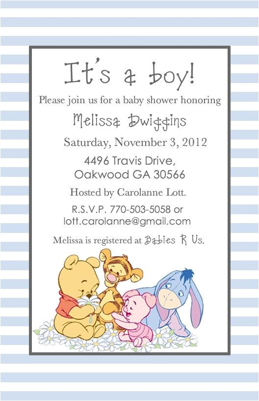 baby shower pooh bear