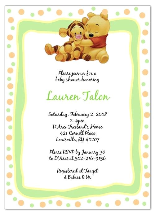 interesting winnie the pooh baby shower invitations