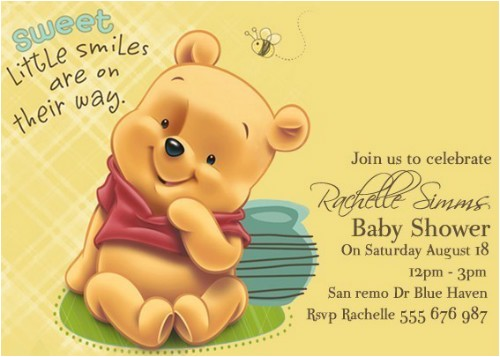 winnie the pooh baby shower invitations alp first birthday ideas