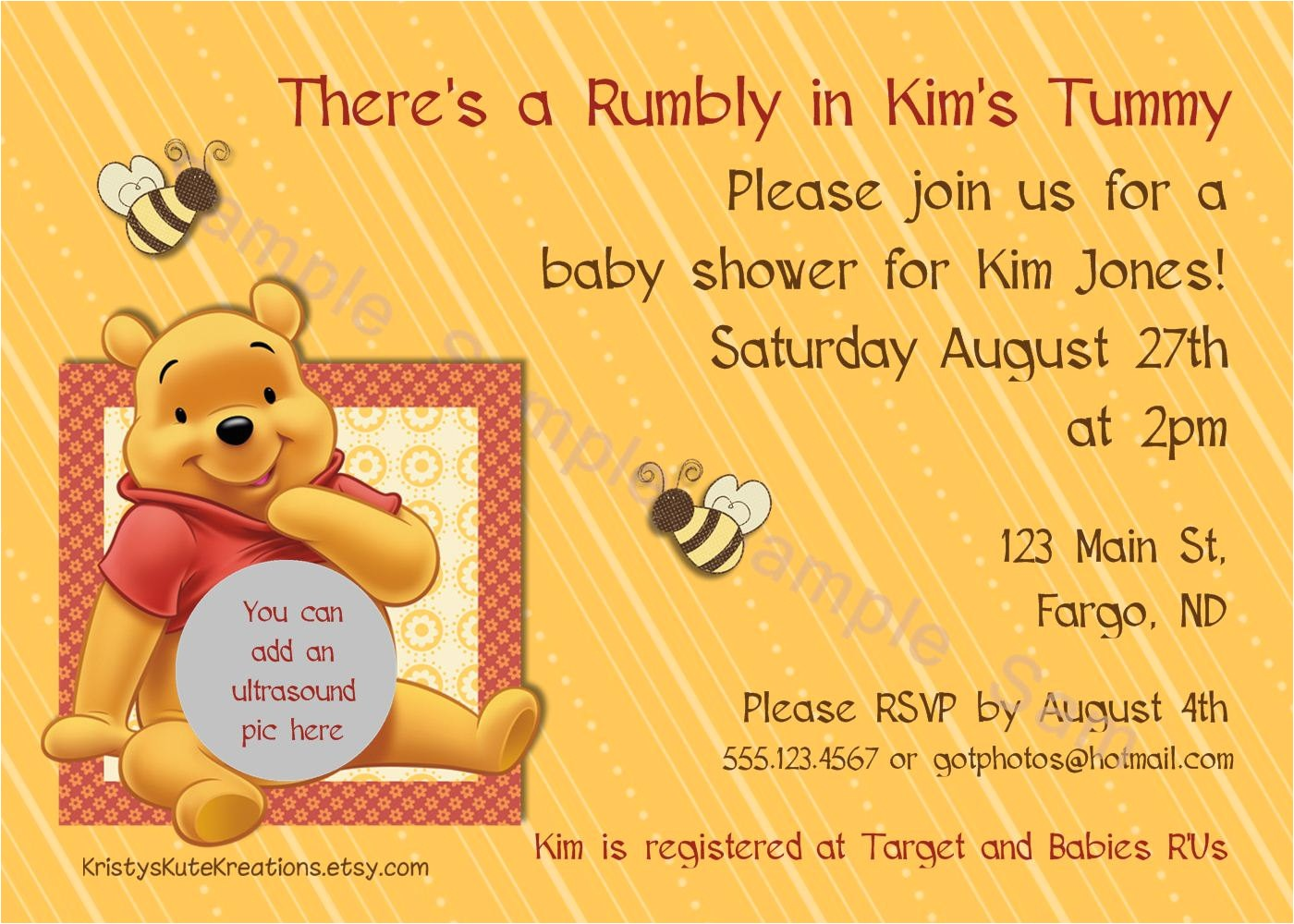 winnie the pooh baby shower invitations 2
