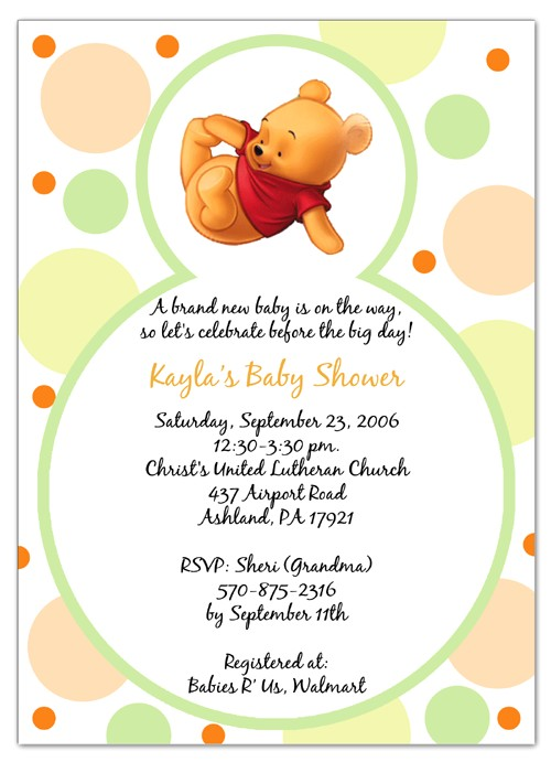 winnie the pooh baby shower invitations template