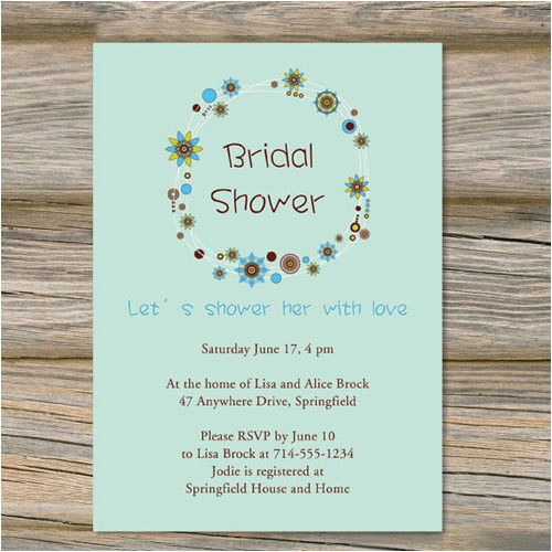 floral green bridal shower invitations cheap ewbs048