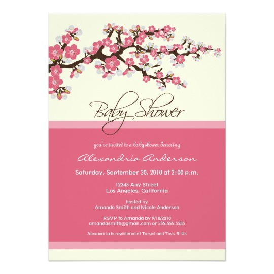 cherry blossom baby shower invitation pink CMPN=addthis&lang=en