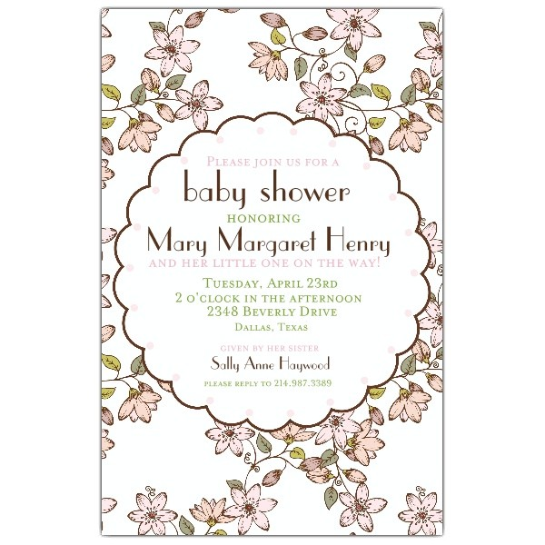 Cherry Blossom Baby Shower Invitations p 622 58 276BS