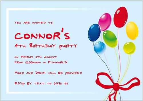 wonderful kids birthday party invitation wording