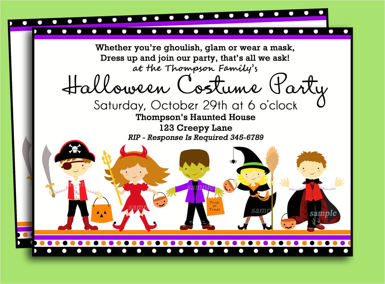 costumes birthday party invitation wording