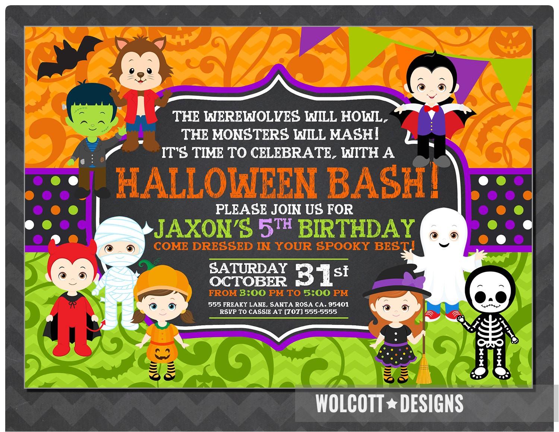 halloween birthday invitation kids