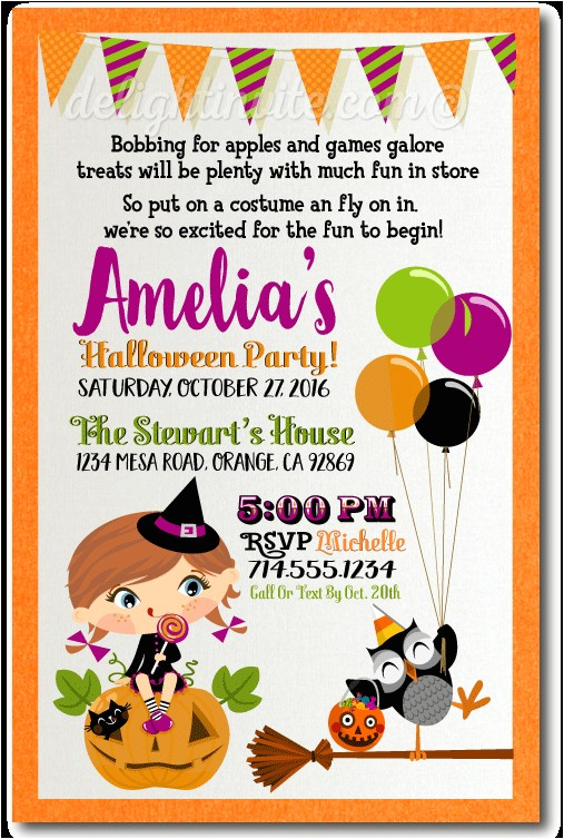 kids halloween costume party invitation p 1673